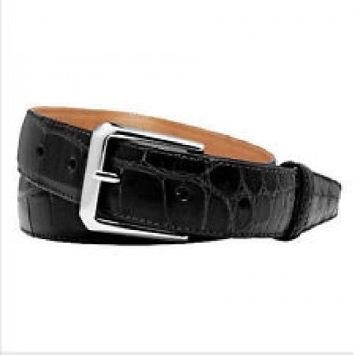 Trafalgar Classic Black Alligator Belt Size 32