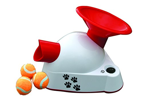 gotcha talking dog fetch toy an automatic ball thrower launcher