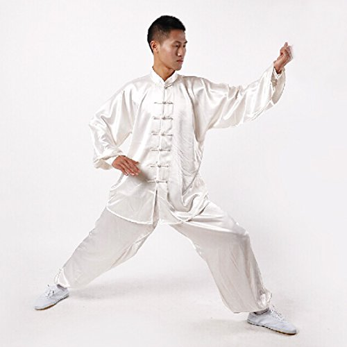 Andux Chinese Traditional Tai Chi Uniforms Kung Fu Clothing Unisex SS-TJF01 White