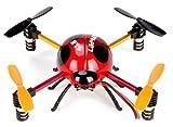 3D飛行で宙返り!! 4翼 クアッドコプター 4ch ラジコン てんとう虫◆地球DR