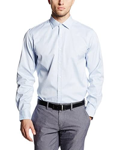 Cortefiel Camisa Hombre Azul Celeste