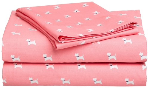 Tommy Hilfiger Pink Puppies 4pc Full Bedding Sheet Set