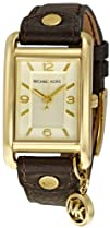 Michael Kors Watches Michael Kors Ladies Leather Rectangle