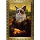 41wuE03sTVL. SL160  (13x19) Grumpy Cat Mona Lisa Poster
