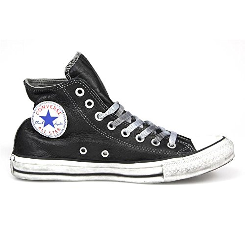 Converse, Donna, Chuck Taylor All Star Leather Limited Edition, Pelle, Sneakers Alte, Nero, 45 EU