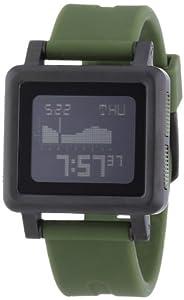 Nixon Herren-Armbanduhr The Housing Matte Black / Surpl Digital Quarz Silikon A1571042-00