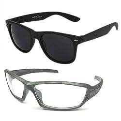 Mayatras Wayfarer Combo Sunglasses (Black) (M46)