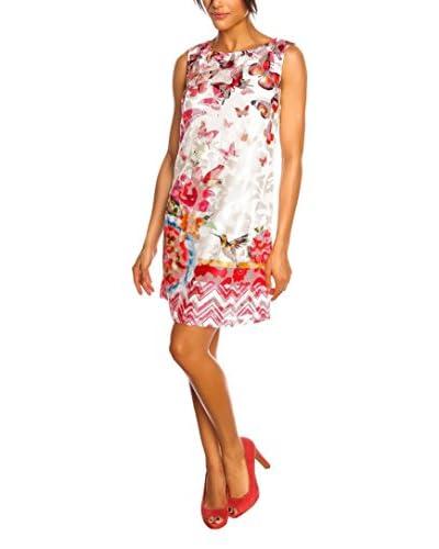 Spring Style Vestido Celia Fucsia / Marfil
