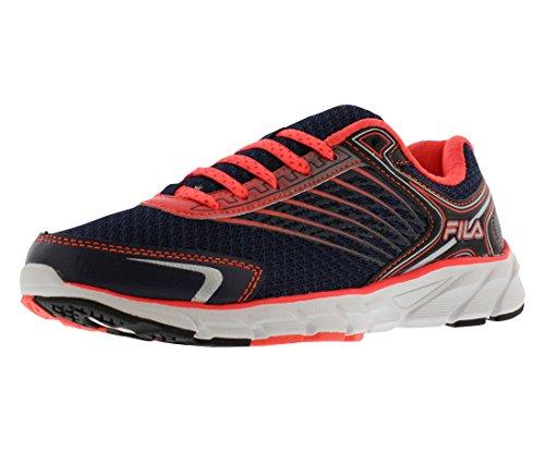Fila Women's Memory Maranello 2 Running Shoe, Navy/Fiery Coral/Dark Silver, 8.5 M US