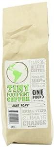 Tiny Footprint Coffee Organic Light Roast Ground Coffee, 16-Ounce Bags (Pack of 2) from Tiny Footprint Coffee