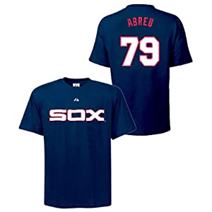 Jose Abreu Chicago White Sox Navy Player T-Shirt by Majestic by Majestic