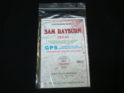 Sam Rayburn Reservoir, Texas Enlarged Version Geographic GPS Charts and Above Water and Underwater Topography.