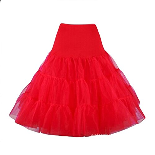 E.JAN1ST Women's Ruffle Skirts Vintage Rockabilly Petticoat Tiered A-line Skirts