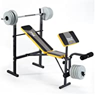 Cheap Everlast EV115 Starter Bench and Weights - Grey/Yellow On sale-image
