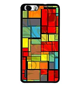 Colourful Rectangular Pattern 2D Hard Polycarbonate Designer Back Case Cover for Huawei Honor 6