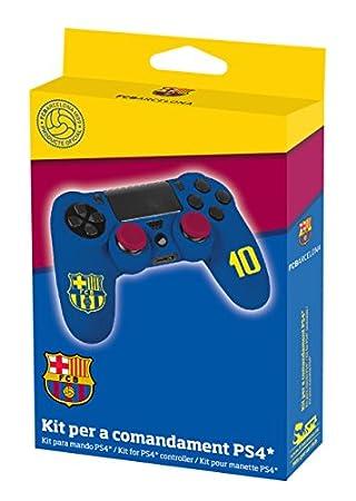 Subsonic - Protector Suave De Silicona Para Mando, Con Licencia Oficial FC Barcelona (PS4)