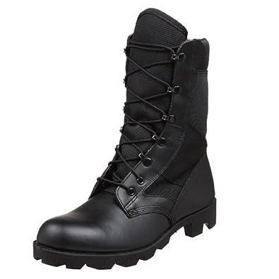 Wellco Men's B130 Imported HW Jungle Combat Boot,Black,4 M