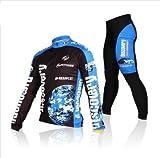 Inbike Herbest winter Fleece Rad-Trikots Männer Hemd mit lange Ärmeln Anzug Radbekleidung mit Fahrradhose COOLMAX Silikonmatte