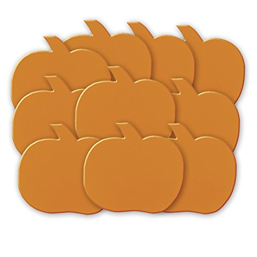 "5"" Paper Cut Out Pumpkin Decorations, 10ct - 1"