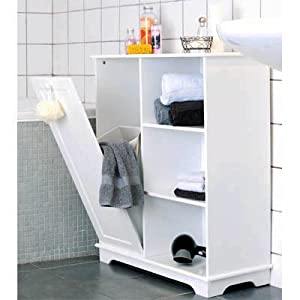 Luxury Free Standing Bathroom Cabinet Towel Linen Bin Laundry Hamper Kitchen Home
