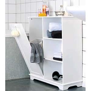 Luxury Free Standing Bathroom Cabinet Towel Linen Bin Laundry Hamper Kitchen Home