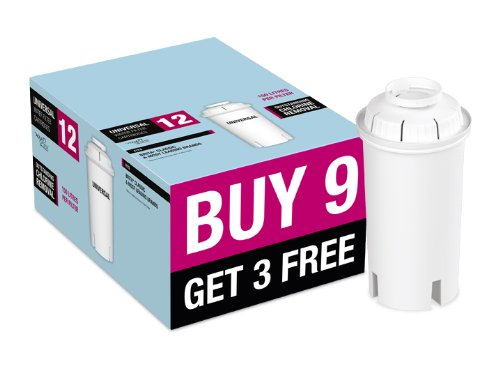 Aqua Optima Universal Water Filter 9+3 Free Pack. Fits Brita* Classic and most leading brands.