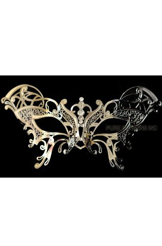 Guilded Butterfly Venetian Mask (Silver)