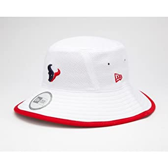 NFL Houston Texans Training Camp Bucket Hat, White, One Size Fits All by New Era