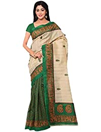 Sarees For Women Party Wear Designer Today Best Offers Buy Online In Low Price Sale Green & Beige Color Art Silk...