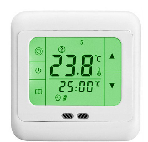 Lcd Programmable Touch Screen Green Backlight Digital Under Floor Heating Room Thermostat