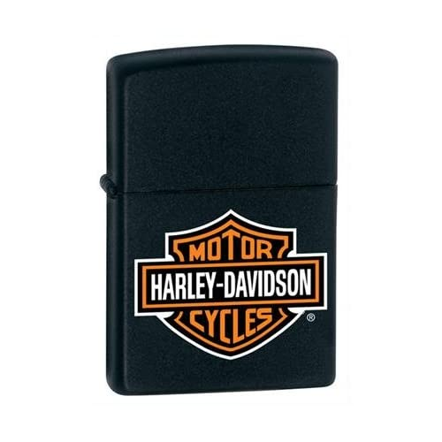 Zippo Harley Davidson Black Matte Lighter