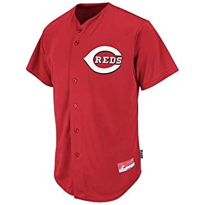 Cincinnati Reds Full-Button CUSTOM or BLANK BACK Major League Baseball Cool-Base... by Majestic Authentic Sports Shop