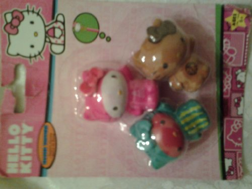 Hello Kitty 3 Eraser Topper - White/pink/brown - 1
