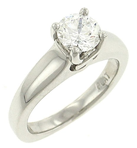 Ladies High Polished Solitaire Engagement Ring (Cz Ctr