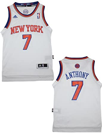 NBA New York Knicks Anthony #7 Youth Pro Quality Athletic Jersey Top by NBA