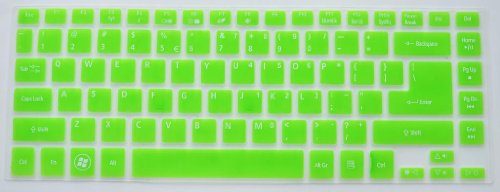 Folox Tm Backlit Keyboard Protector Cover For Acer Timeline 4830T 3830T Aspire 4755G V3-471G V5-471G V5-431 V5-431P M5-481G M3-481G R7-571G E1-472G (Green)