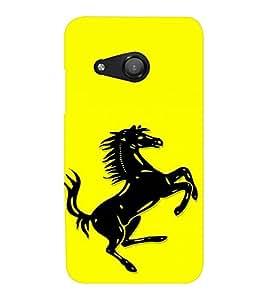 EPICCASE Ferrari horse Mobile Back Case Cover For Microsoft Lumia 550 (Designer Case)