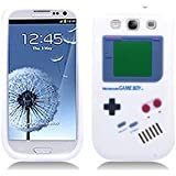 White Nintendo Gameboy Soft Rubber Skin Case for Samsung Galaxy-S 3 III Phone