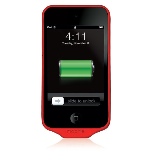 Mophie Juice Pack Air Case and 1000 mAh Rechargable Battery for iPod Touch 4th Gen (Red)