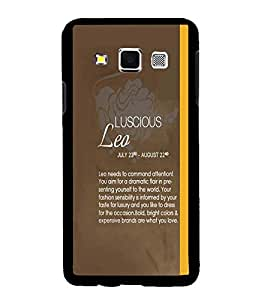 Fuson Premium Luscious Leo Metal Printed with Hard Plastic Back Case Cover for Samsung Galaxy A3