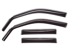 WeatherTech Custom Fit Front & Rear Side Window Deflectors for Ford Edge, Dark Smoke