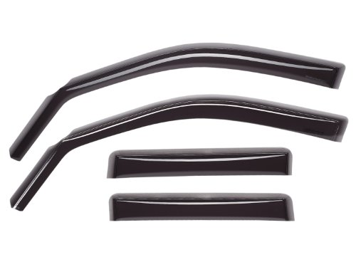 WeatherTech Custom Fit Front & Rear Side Window Deflectors for Dodge Ram 1500, Dark Smoke (2010 Dodge Ram Weathertech compare prices)