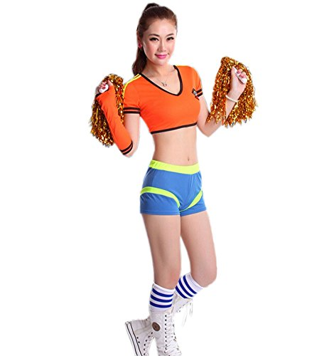 Soccer Cheerleader Costume/ Cheerleading Uniform/Cheerleader Outfit Size L (OR)