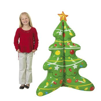 "Jumbo Inflatable Christmas Tree Eco Friendly Recyclable-48"" X 38"" front-927884"