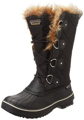 Fantastic Womens Snow Boot Nylon Tall Winter Snow Waterproof Fur Lined Warm Rain