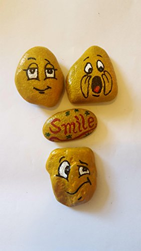 Ornamental dipinto Rocks 4pezzi