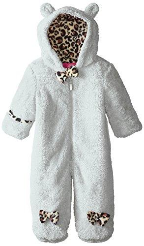 Weatherproof Baby-Girls Newborn Butter Sherpa Fleece Pram, Winter White, 3-6 Months