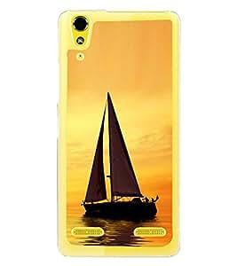 Boat in River 2D Hard Polycarbonate Designer Back Case Cover for Lenovo A6000 :: Lenovo A6000 Plus :: Lenovo A6000+