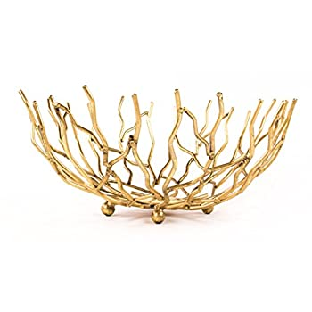 Golden Reef Patina Decorative Centerpiece Bowl - 13