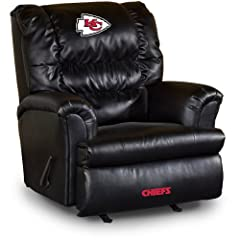 Buy NFL Kansas City Chiefs Big Daddy Leather Recliner by Imperial